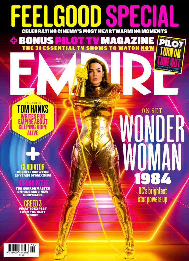 Empire Magazine's June 2020 cover featuring Gal GAdot as Wonder Woman for Wonder Woman 1984