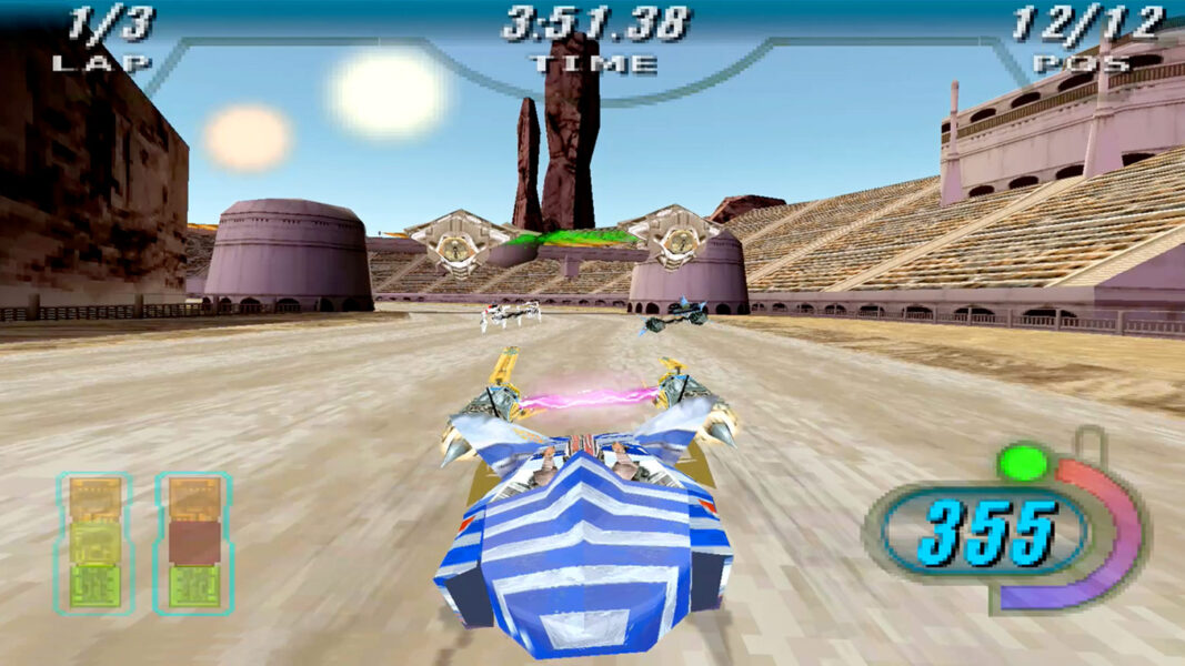 Anakin Skywalker races in the Boonta Eve Classic in Star Wars Episode I Racer