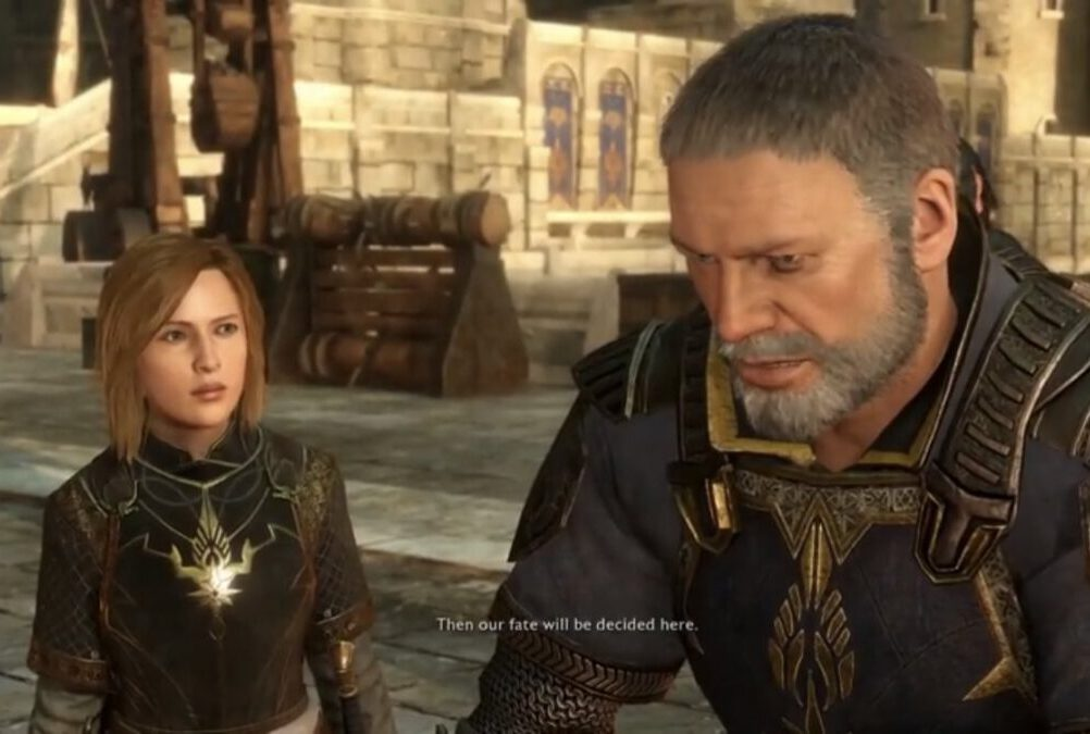 Idril consults with her father, General Castamir, in Middle-earth: Shadow of War.