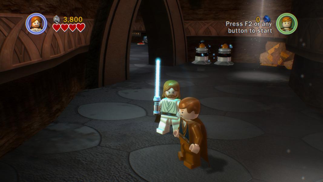 LEGO Obi-Wan and LEGO Anakin.