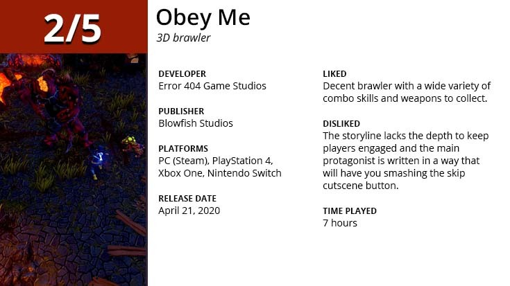 Obey Me GGA Game Review Summary