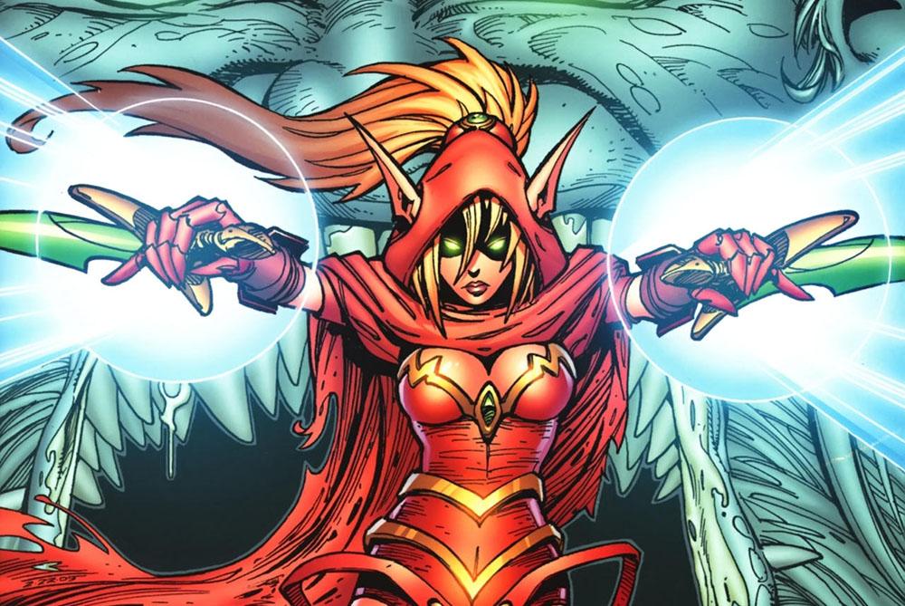 Valeera Sanguinar fighting her inner demon.