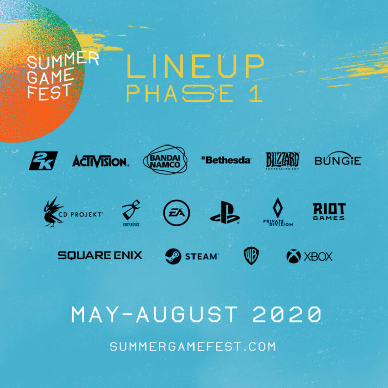 Summer Game Fest Line up for phase one.