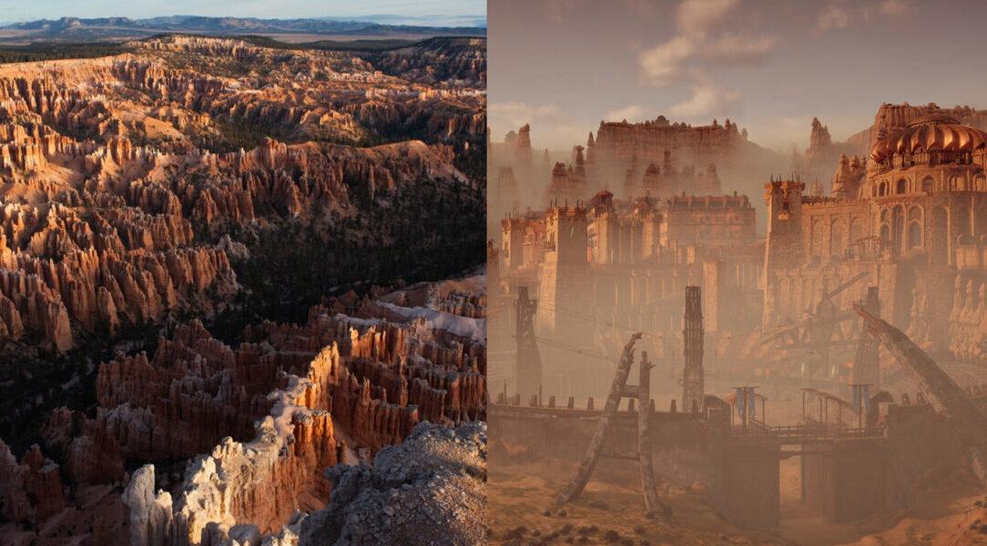 Horizon Zero Dawn: Bryce Canyon National Park and Sunfall