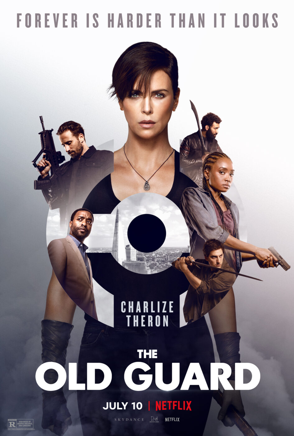 the old guard poster with charlize theron