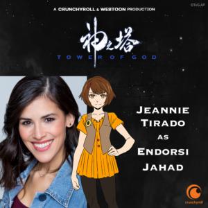 Jeannie Tirado as Endorsi Jahad (TOG dub cast promo materials)