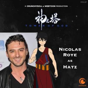 Nicolas Roye as Hatz (TOG dub cast promo materials)
