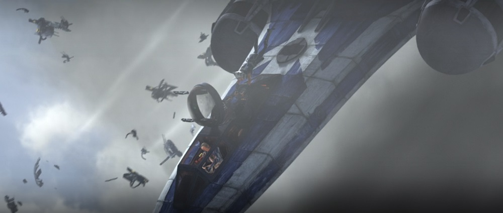 The Clone Wars: Ahsoka and Captain Rex escape the downed ship