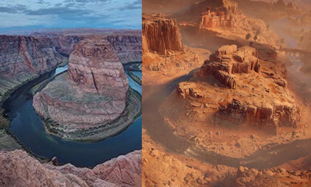 Horizon Zero Dawn: Horseshoe Bend and Gatelands Canyon