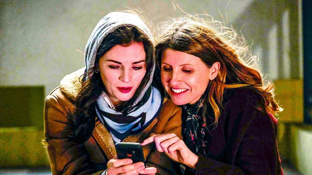 Still of Aisling Bea and Sharon Horgan in This Way Up.