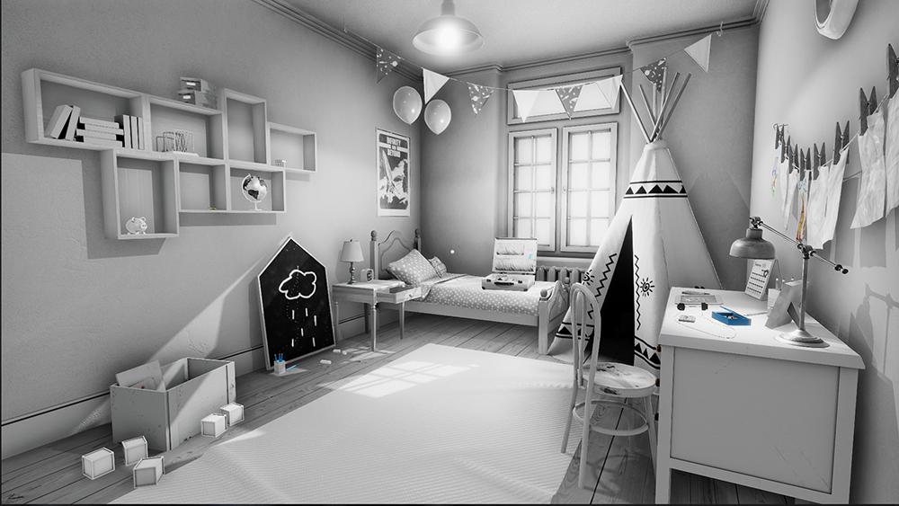 John Evan's memory of his childhood room in The Shattering.