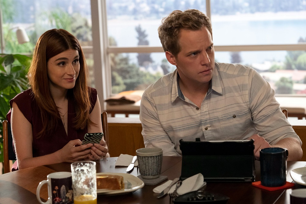 Still of Aya Cash and Chris Geere in You're the Worst.
