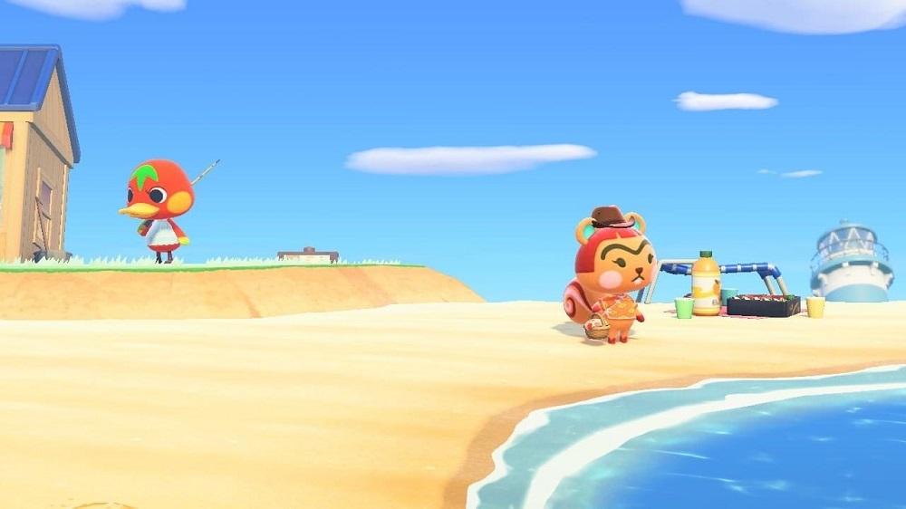 Animal Crossing New Horizons: Beach Scene