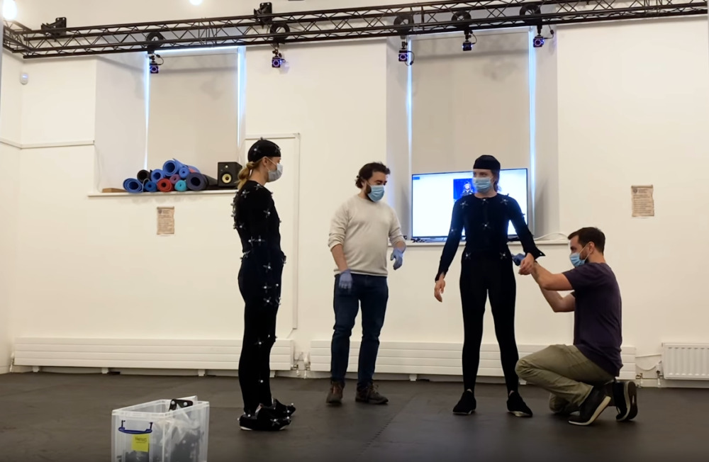 The motion-capture team for Baldurs Gate 3