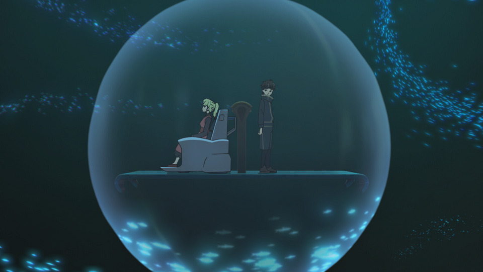 Rachel and Bam in their bubble (Tower of God, season 1, episode 11)