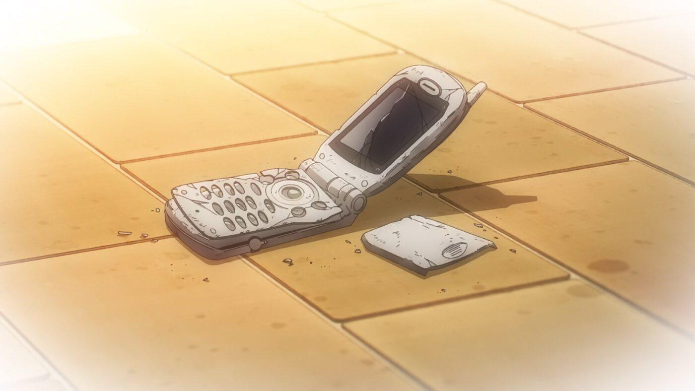 Kaguya's broken flipphone (Kaguya-sama: Love Is War, season 2, episode 12)