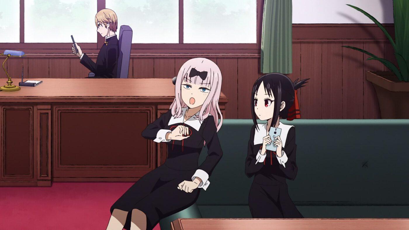 Chika and Kaguya (Kaguya-sama: Love Is War, season 2, episode 12)