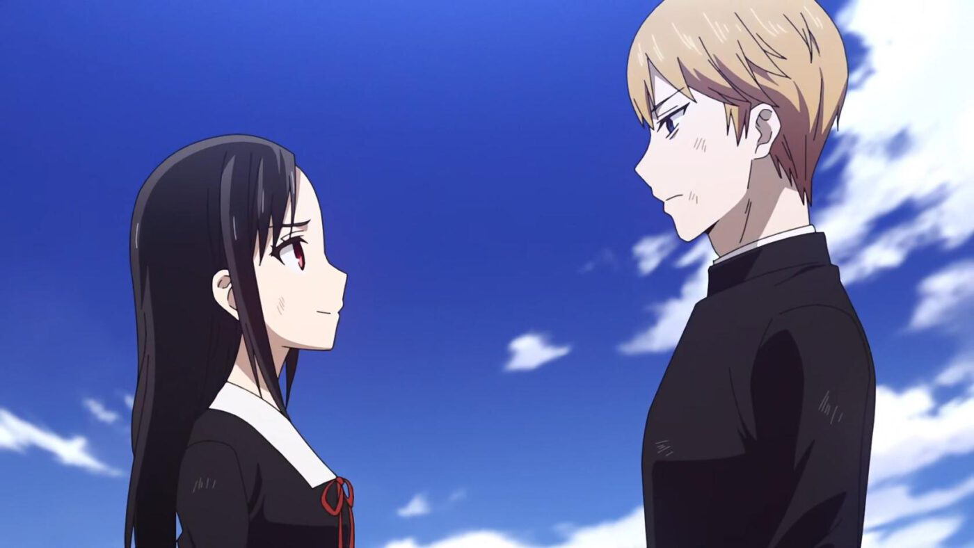 Kaguya and Miyuki Kaguya looking condescending (Kaguya-sama: Love Is War, season 2, episode 12)