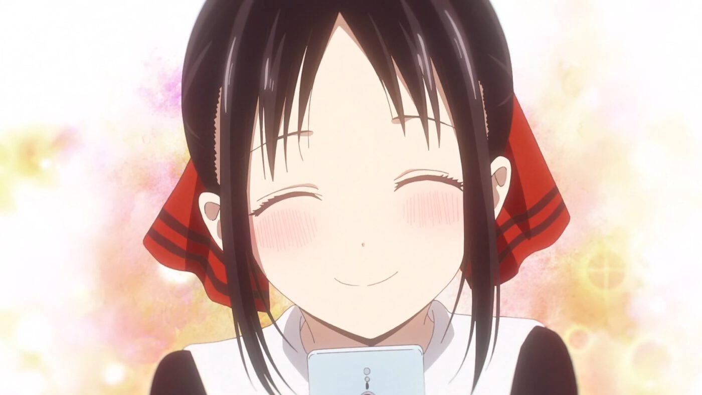 Kaguya smiling (Kaguya-sama: Love Is War, season 2, episode 12)