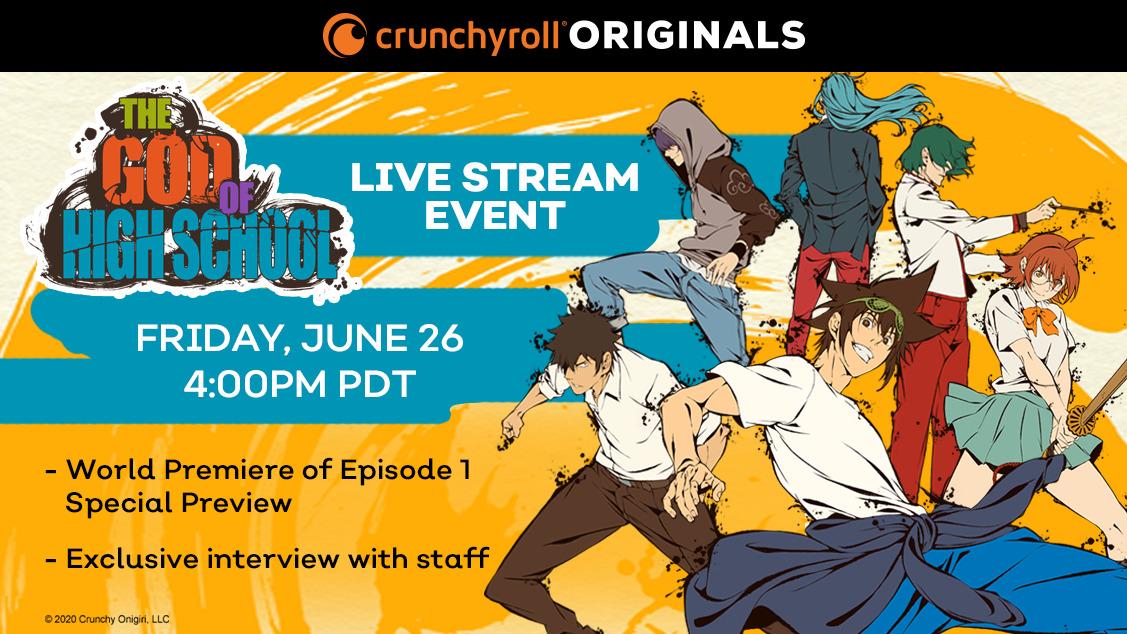 Crunchyroll To Launch THE GOD OF HIGH SCHOOL Digital Event