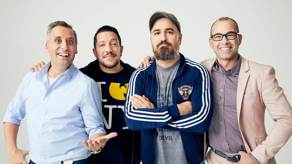Promotional photo of Joe Gatto, Sal Vulcano, Brian Quinn, and James Murray of Impractical Jokers