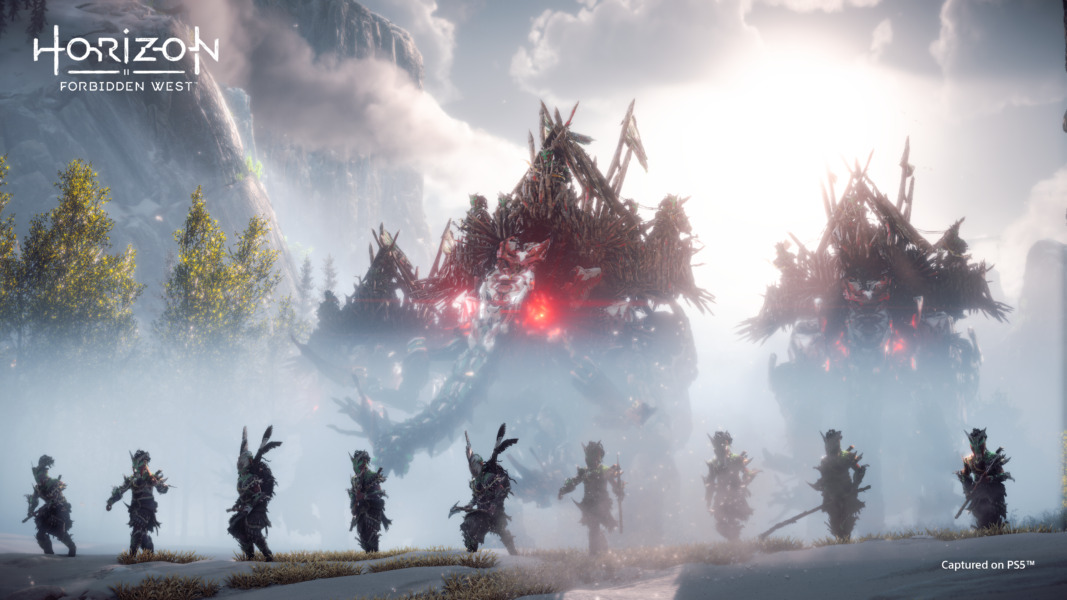 A new tribal cult present a hurdle for Aloy to overcome, as well as the robot mammoths under their control.