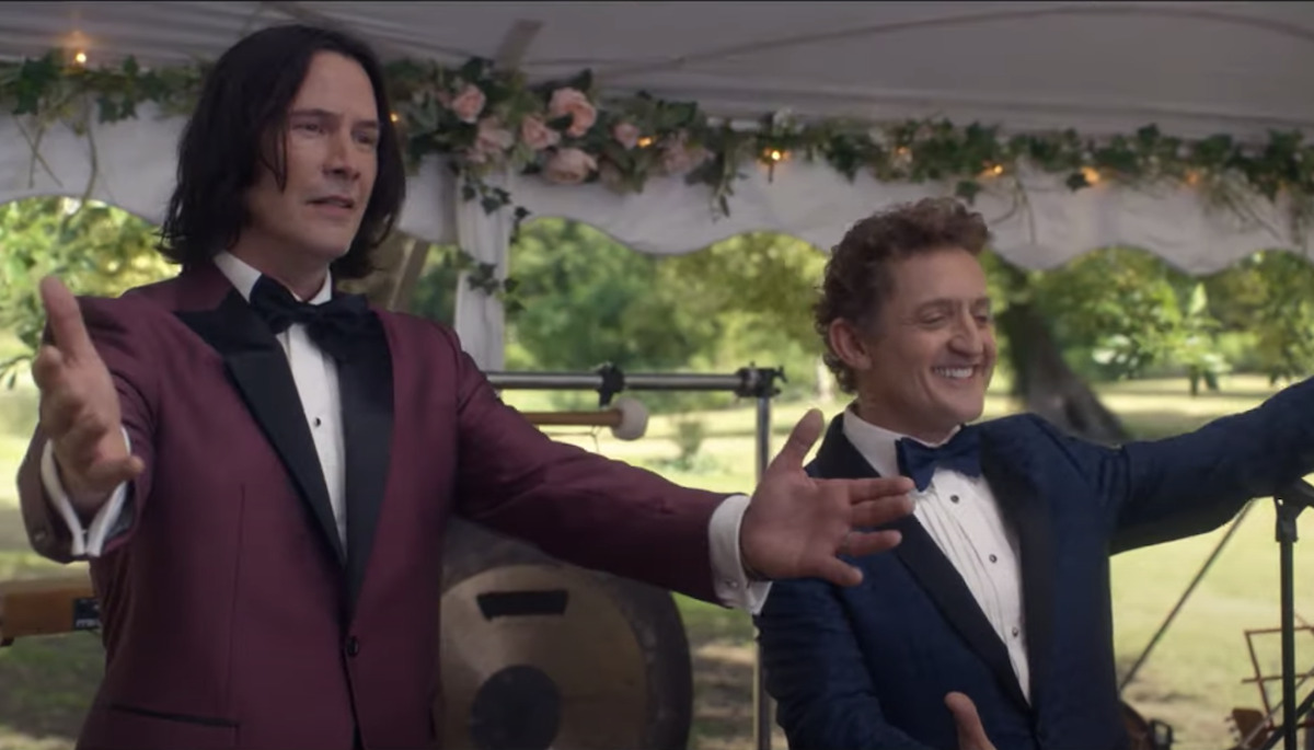 keanu reeves and alex winter in Bill and Ted Face the Music as used for SDCC 2020