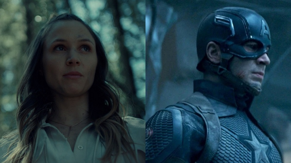Dominique Provost-Chalkley in Wynonna Earp and Chris Evans in Captain America