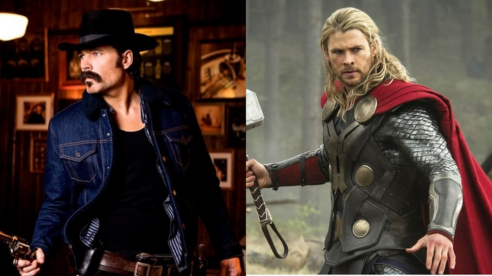 Tim Rozon in Wynonna Earp and Chris Hemsworth in Thor: The Dark World