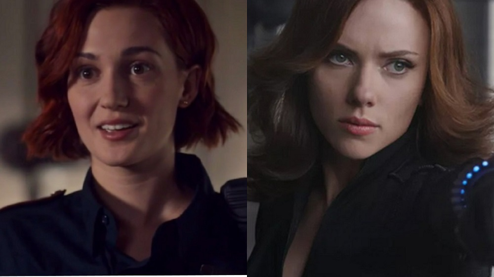 Kat Barrell and Scarlett Johansson