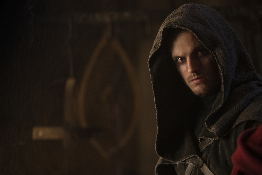 Still of Daniel Sharman as The Weeping Monk in Cursed.