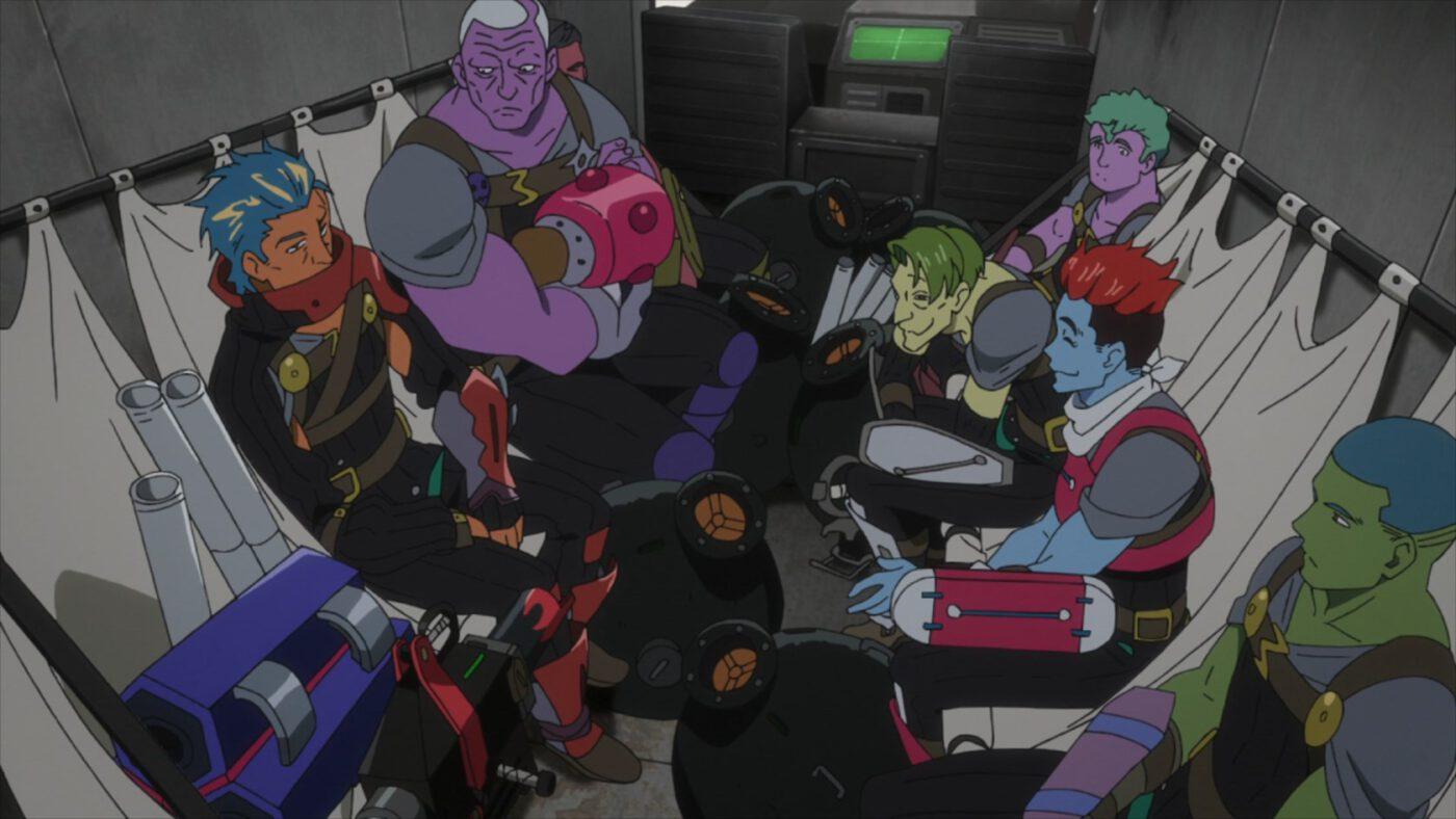 a Gear crew a system administratior (Deca-Dence season 1, episode 2)