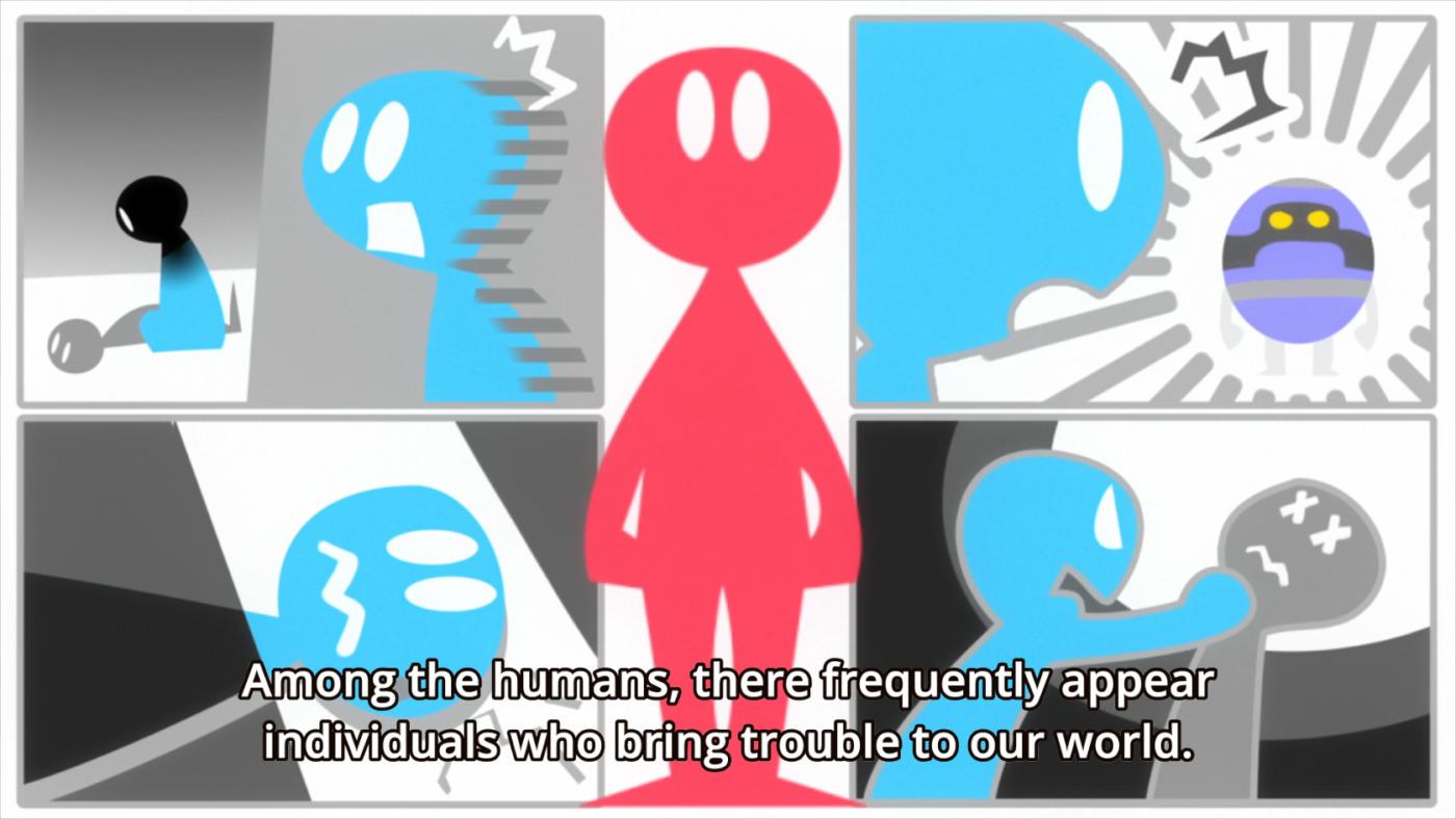 the diagram shown to Kaburagi a system administratior (Deca-Dence season 1, episode 2)