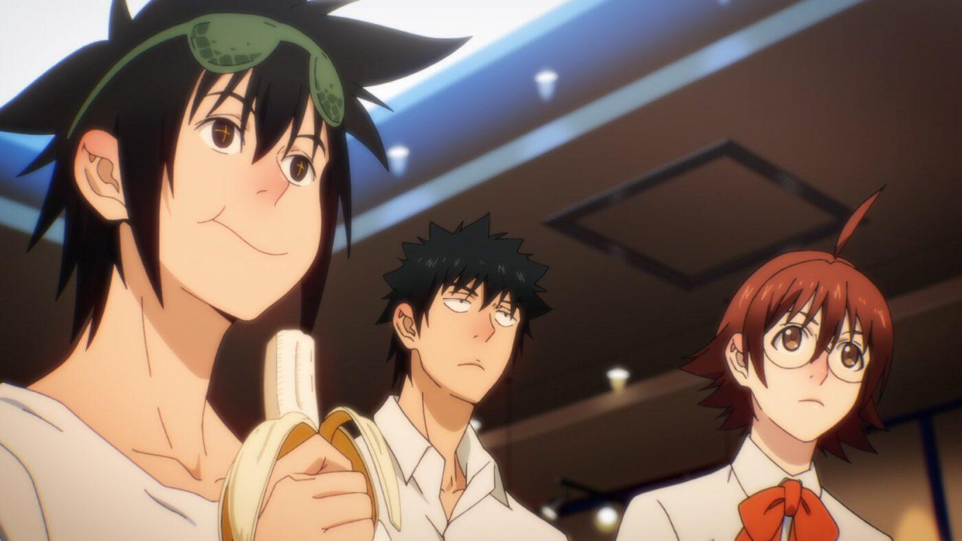 Jin eating a banana (God of High School season 1, episode 2)