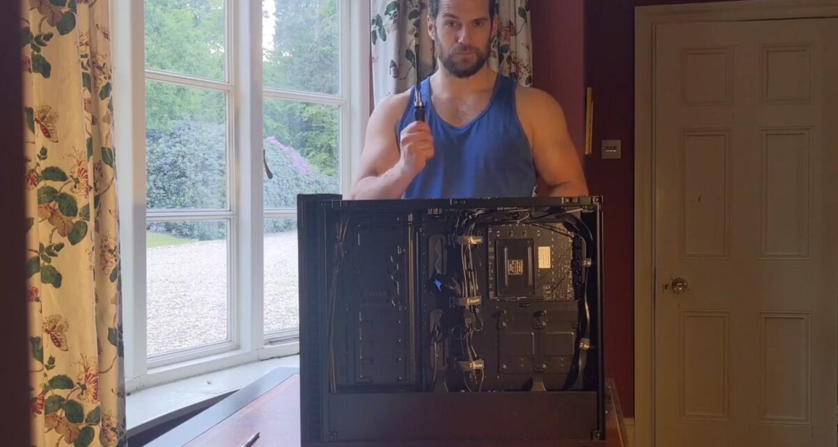 Sit Back and Marvel at Henry Cavill Building His Gaming PC (With a Sexy Barry White Assist)