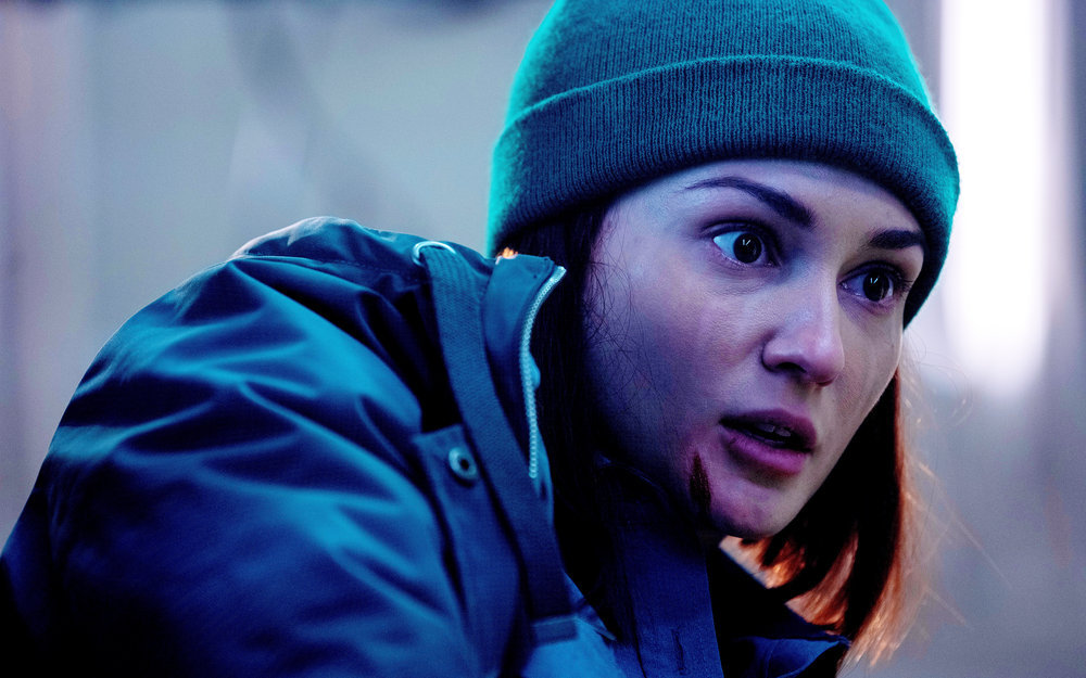 Still of Kat Barrell in Wynonna Earp.