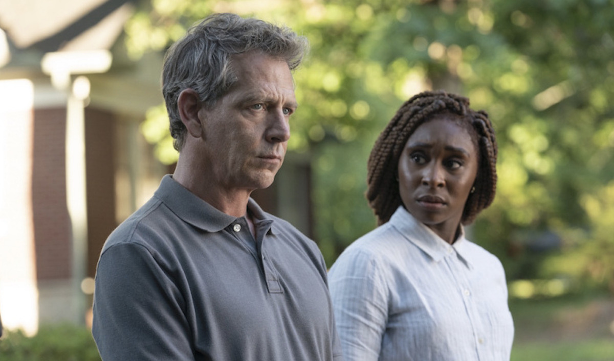 Ben Mendelson as Ralph Anderson and Cynthia Erivo as Holly Gibney in HBO's The Outsider