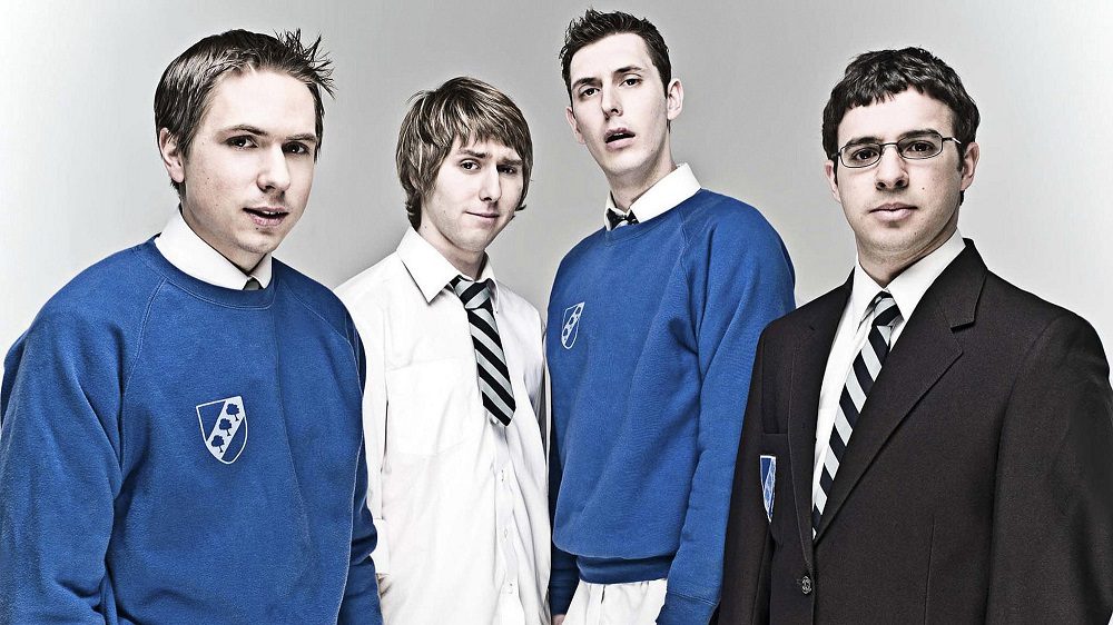 Promotional photo of cast of The Inbetweeners.
