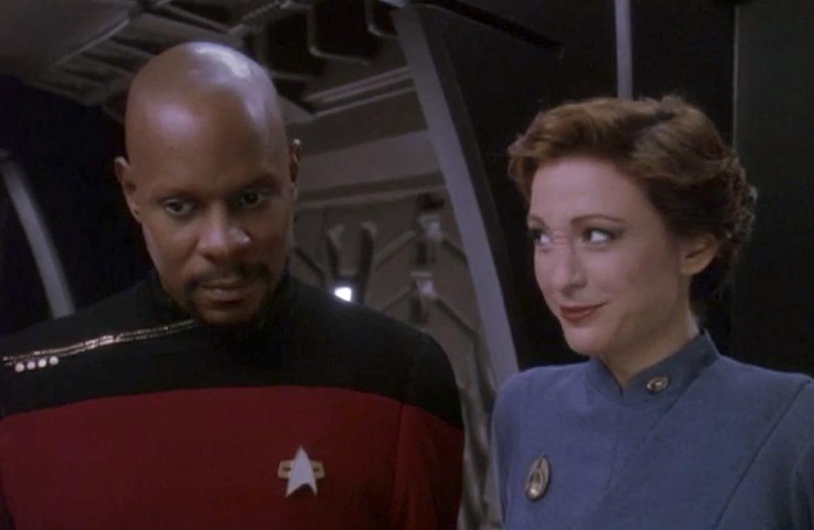 deep space nine's commander benjamin sisko and major kira nerys