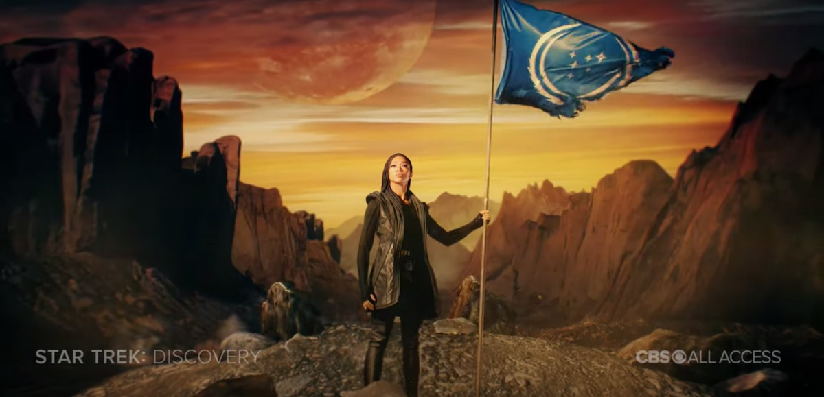 STAR TREK: DISCOVERY Announces Season 3 Premiere Date With Video of Burnham and a Tattered Federation Flag