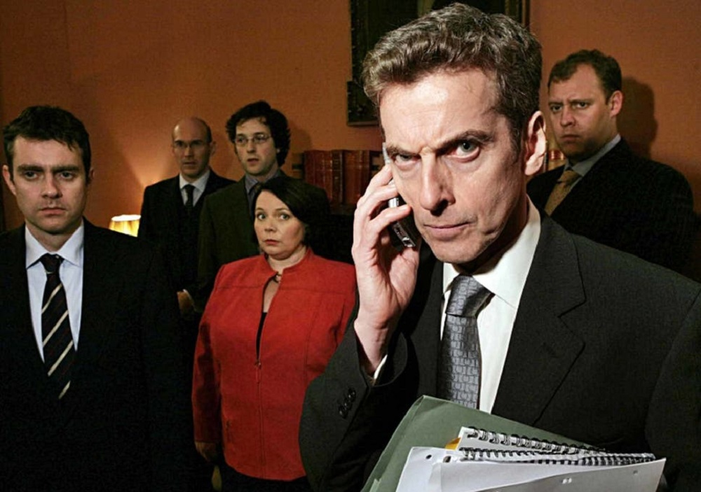Promotional still of the cast of The Thick of It