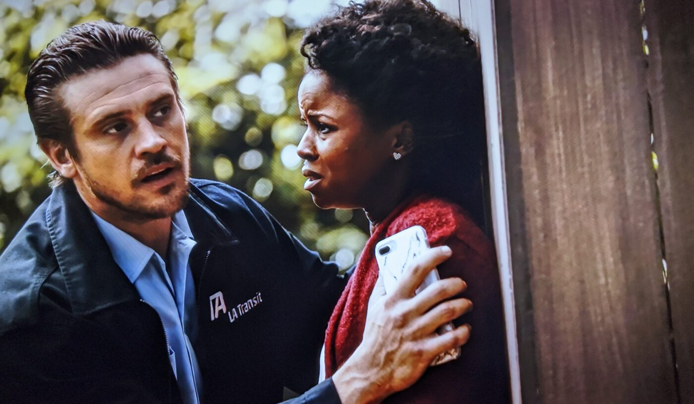 Boyd Holbrook, Shareeka Epps in The Fugitive