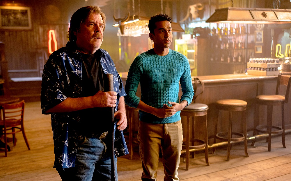 Still of Greg Lawson and Varun Saranga in Wynonna Earp.