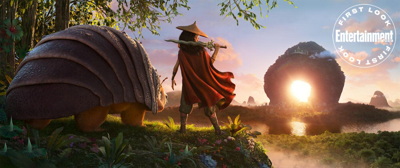 Animated still of Raya and the Last Dragon.