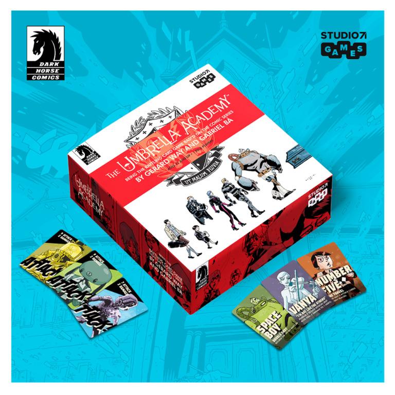 The base tier for The Umbrella Academy card game Kickstarter.