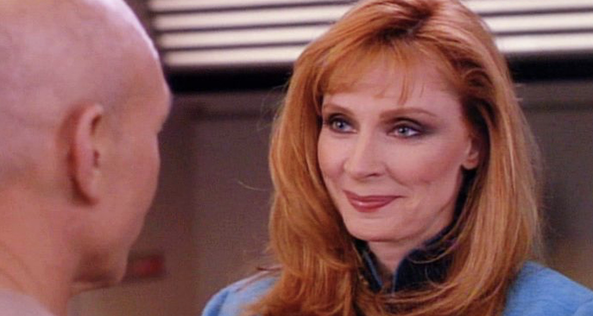 picard and dr beverly crusher on Star Trek: The Next Generation