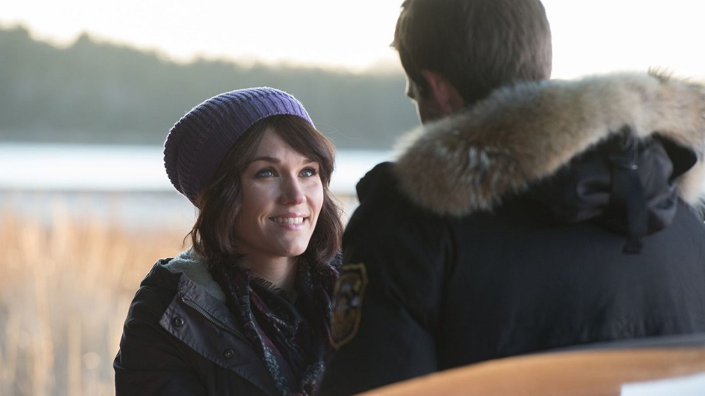 Emily Rose as Audrey Parker's new personaility Paige when she returns to Nathan in Haven.