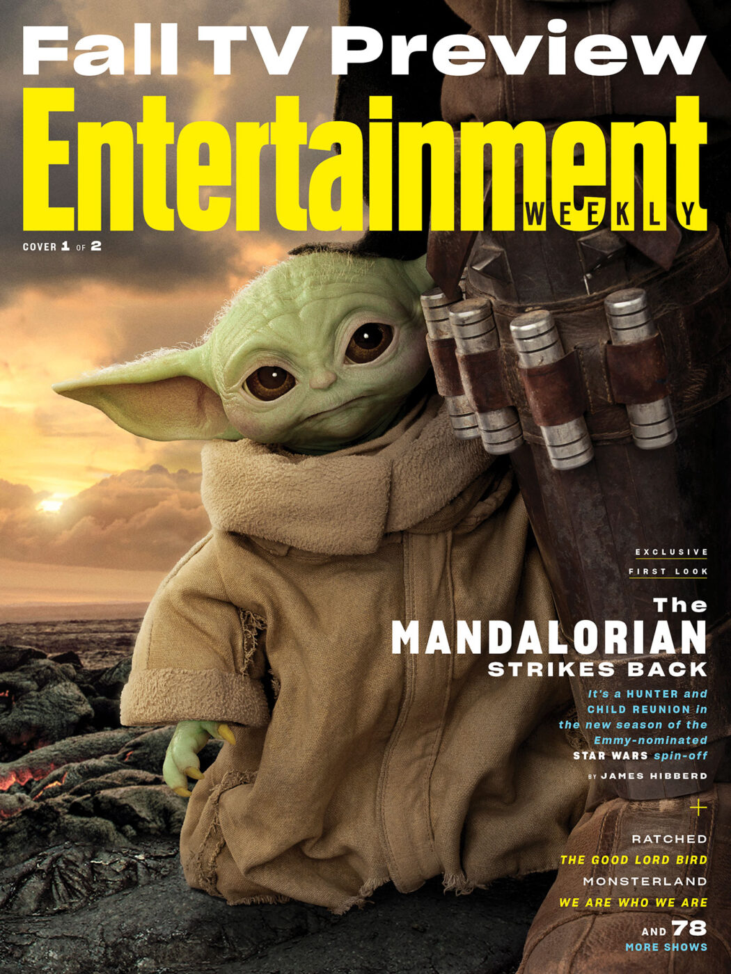 Entertainment Weekly Fall Preview cover featuring The Mandalorian.