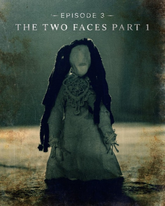 Episode 3, The Two Faces Part 1, title card for The Haunting of Bly Manor.