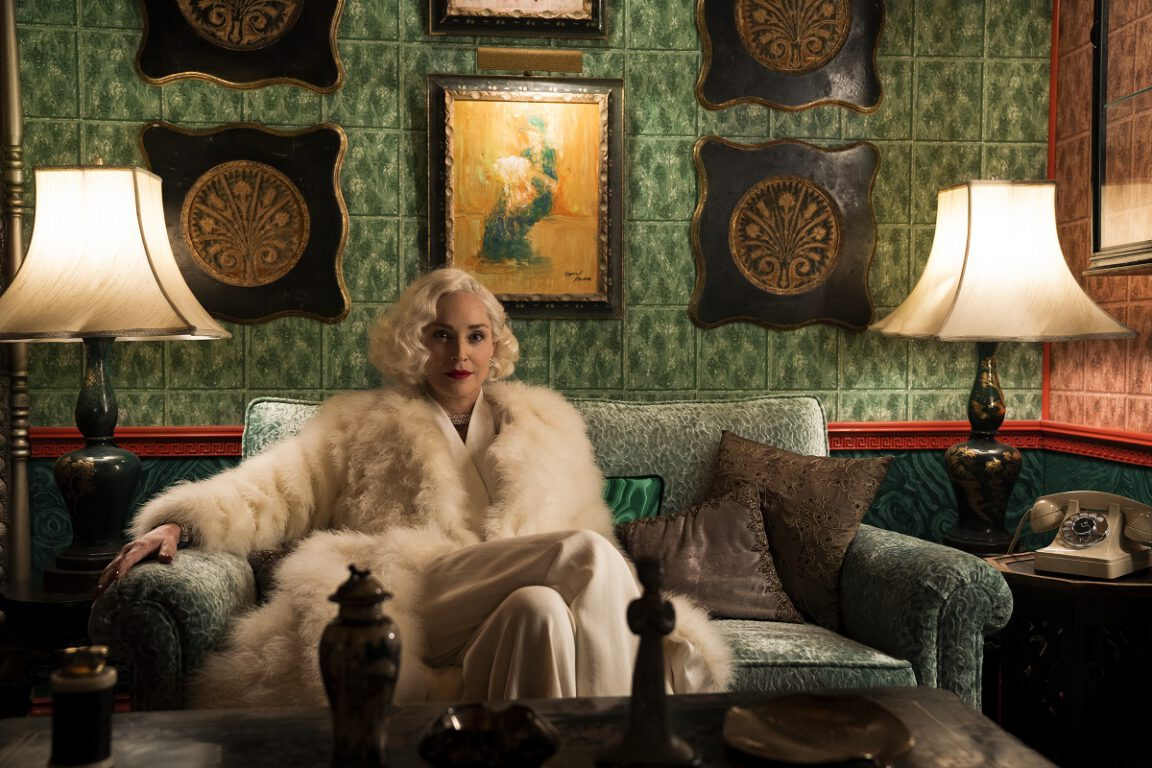 Still of Sharon Stone in Ratched on Netflix.